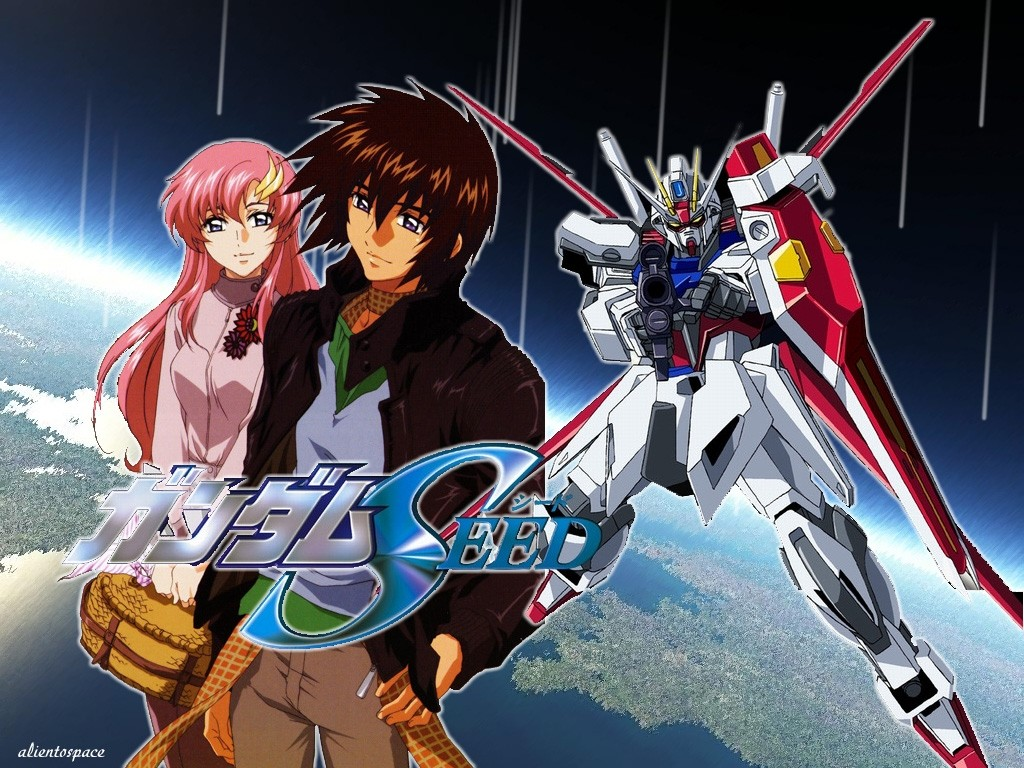 Lacus Clyne y Kira Yamato en Mobile Suit Gundam SEED