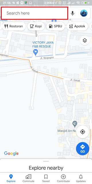 Cara Share Lokasi Google Maps ke WA 6
