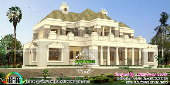 Colonial model Indian home design