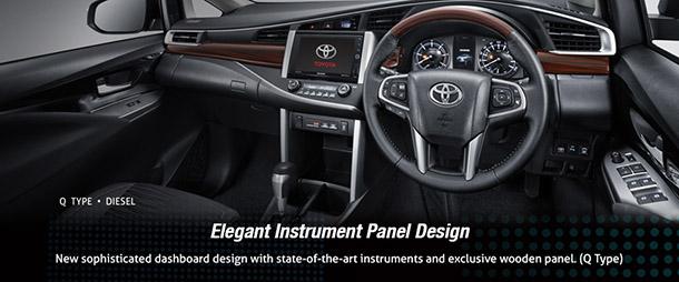 Interior Kabin Toyota All New Kijang Innova Tipe Q, Elegant Instrument Panel Design