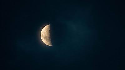 Wallpaper Moon, glow, night, sky