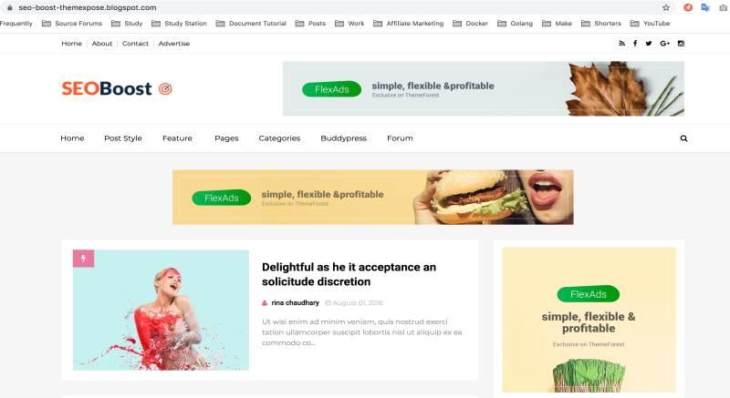 免费Blogger/Blogspot 模板免费给部落格换上新界面