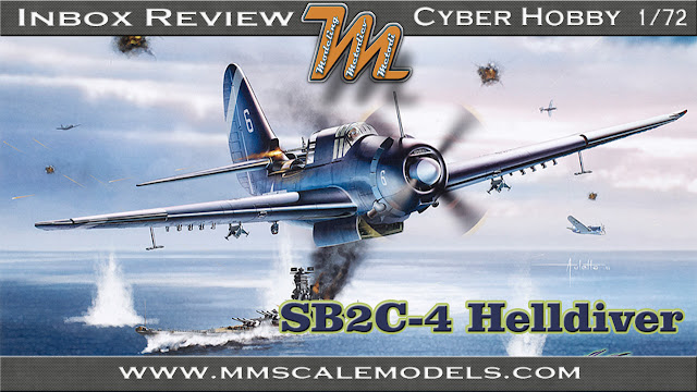Curtiss SB2C -4 Helldiver divebomber, Cyber Hobby, 1/72 plastic scale model kit 5103.