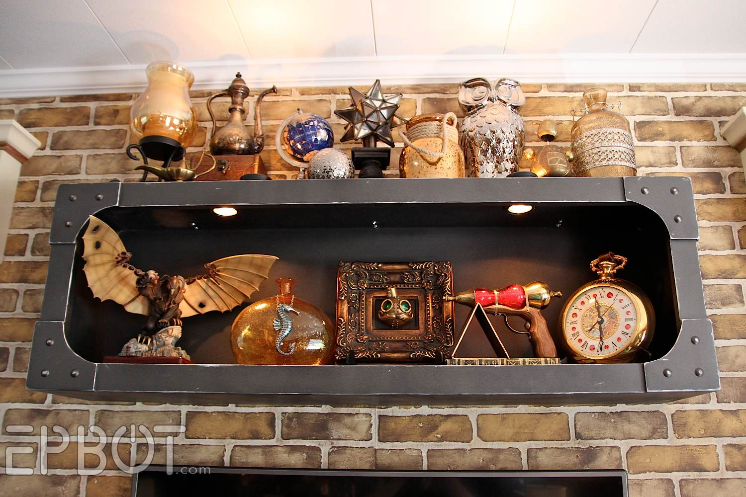 Steampunk Wall Shelves Epbot Finished Steampunk Tv Cabinet And Shelf Reveal