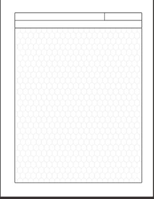 Papel de cuaderno hexagonal para imprimir