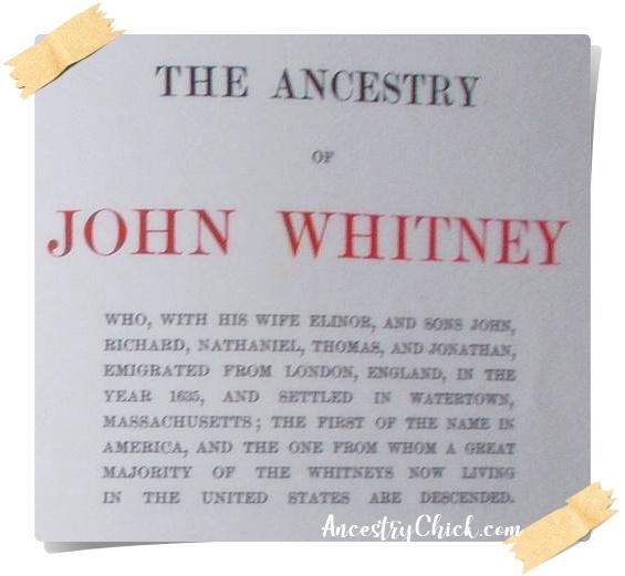 John Whitney Watertown Massachusetts 1635 - Ancestry Chick