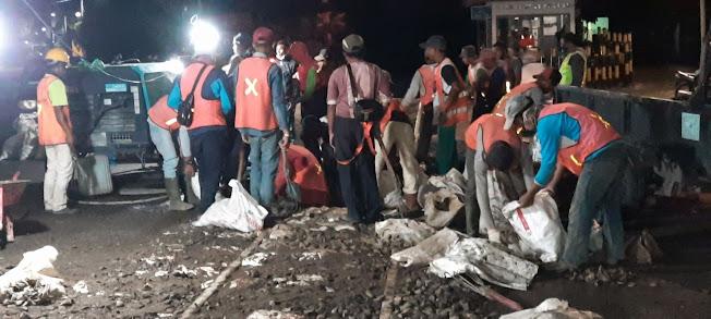 Berjatuhan Korban, Rel Kereta Api di Jalan Ahmad Yani Siantar Diperbaiki