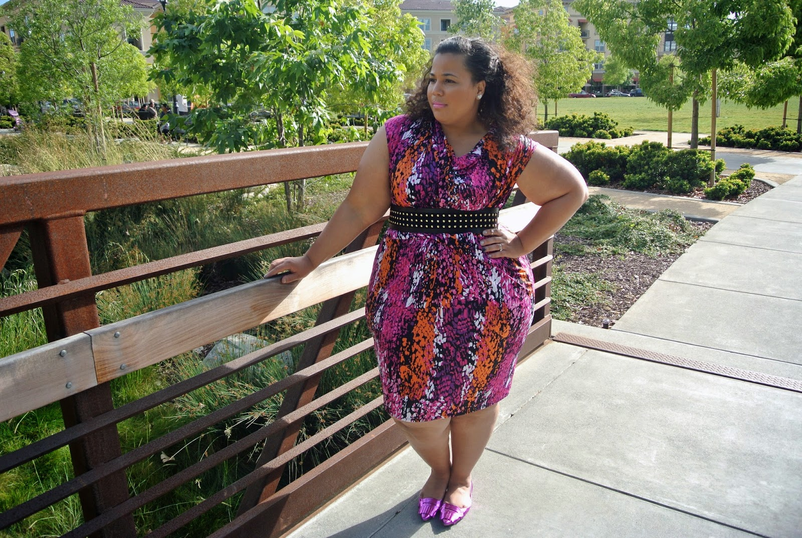 Just My Size Clothing Review, Plus size multicolored dress