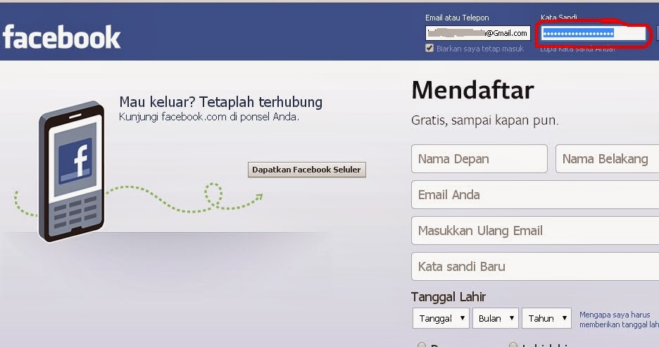 Cara Melihat Password Facebook