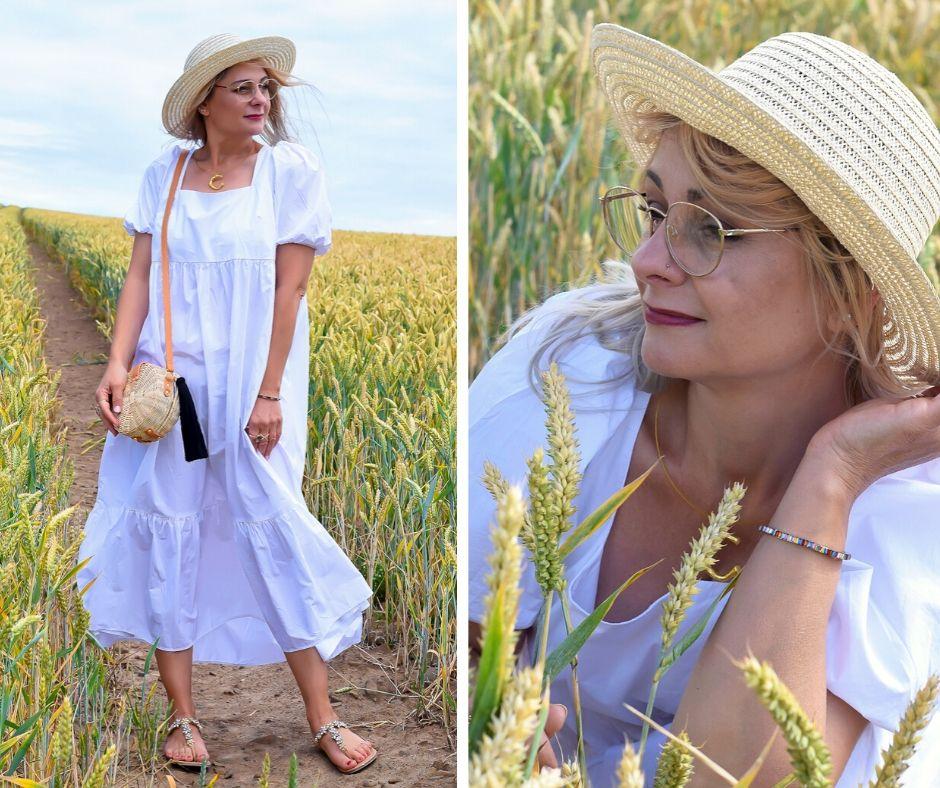 Kleider-Sommer-Weiß-Outfit