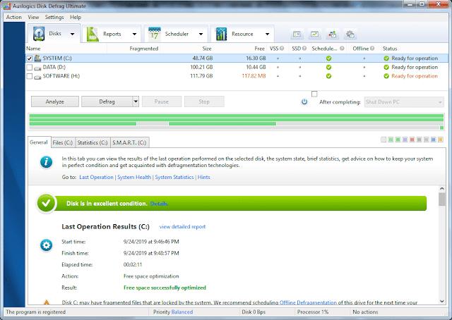 Screenshot Auslogics Disk Defrag Ultimate 4.11.0.2 Full Version