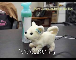 Robot Anjing Pendeteksi Bau Kaki