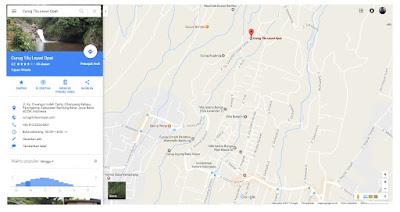 Rute menuju Kawasan wisata Curug Tilu Leuwi Opat, Cimahi