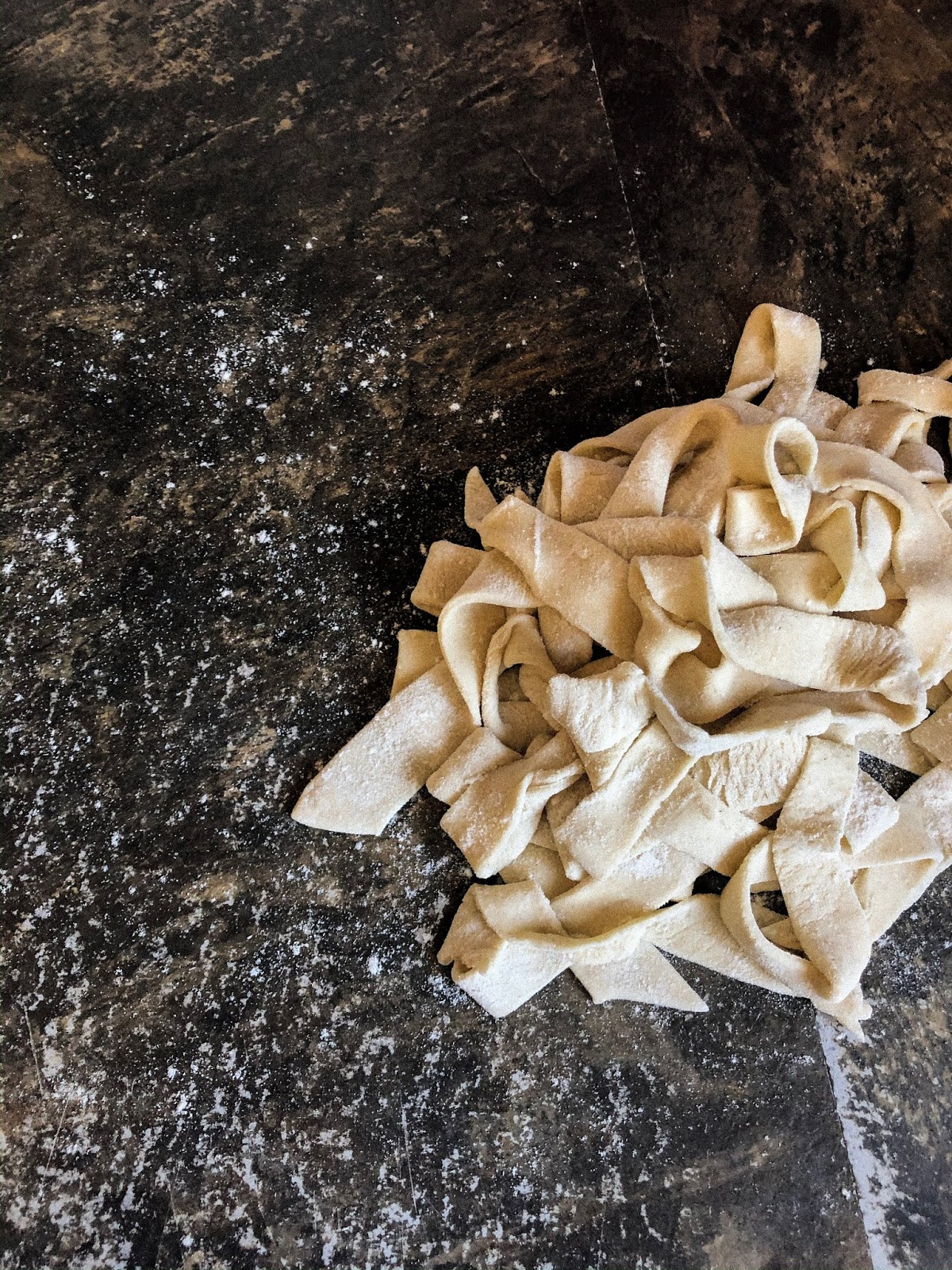homemade egg-free pasta