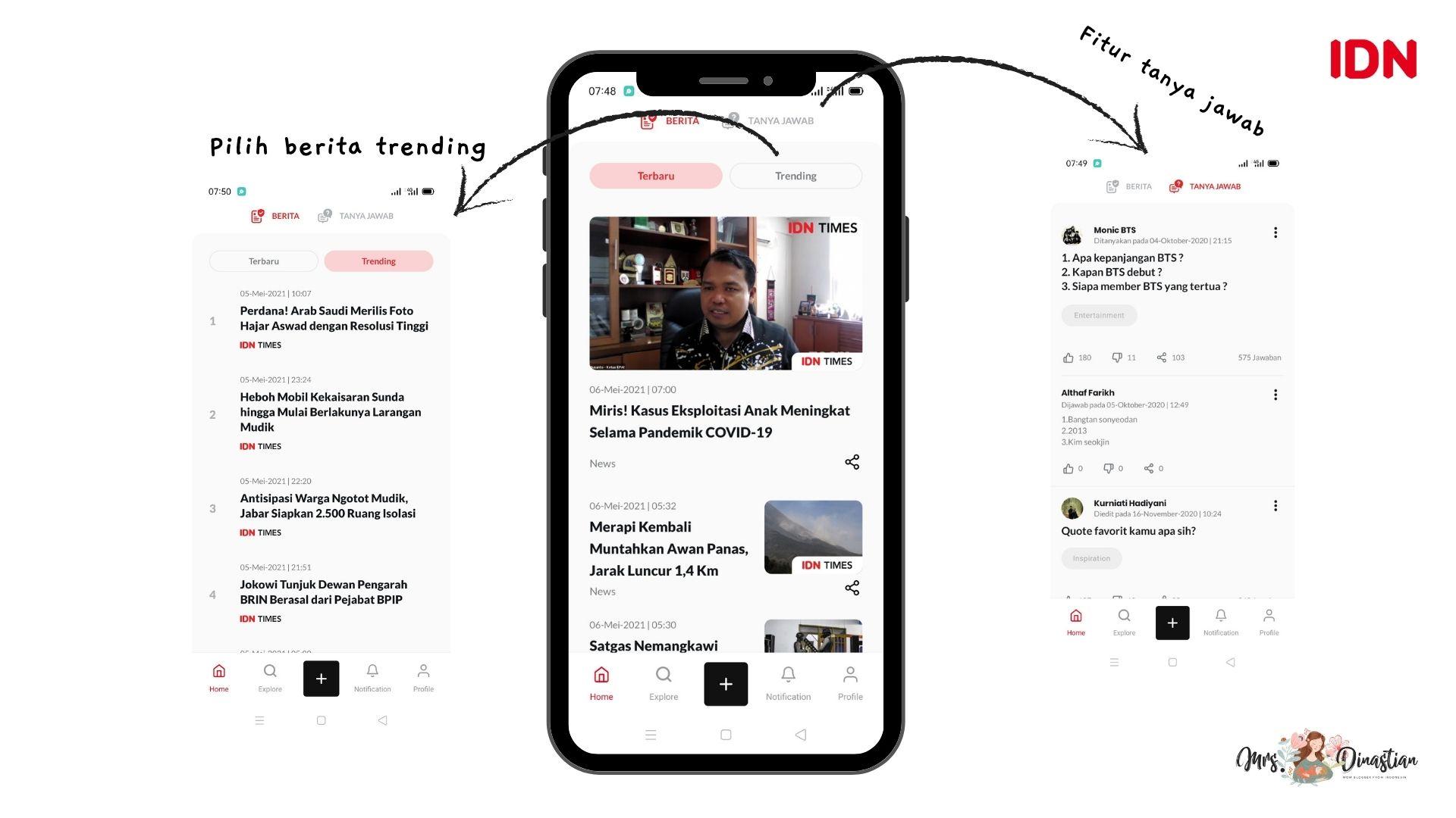 menu home idn app