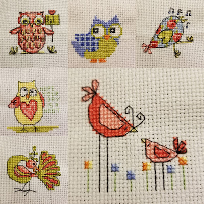 Silly Birds Cross Stitch