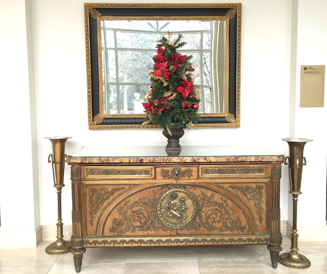 Christmas decor in the Pavilion at Cuneo Mansion.