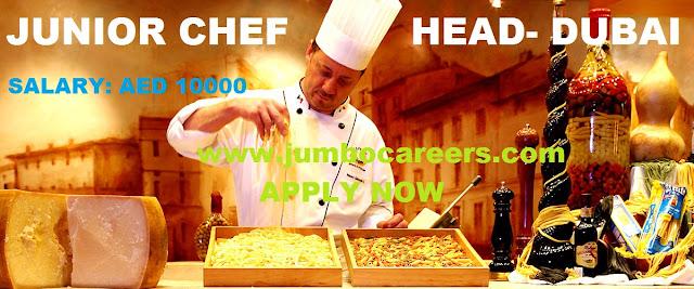 Chef salary for Dubai