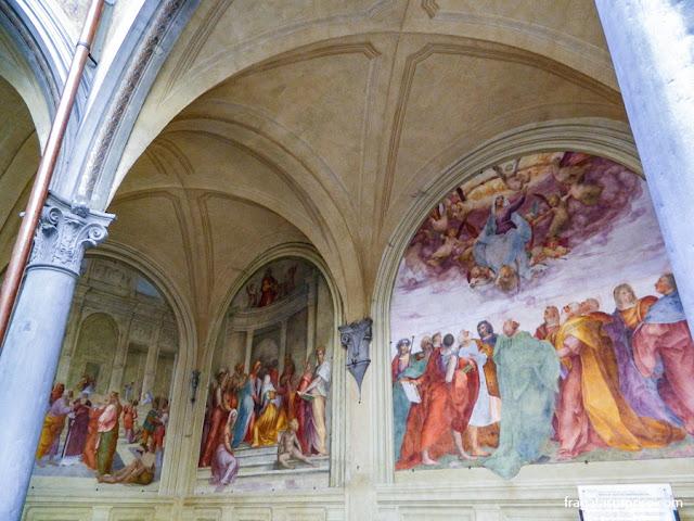 Florença - afrescos na Basílica da Santissima Annunziata