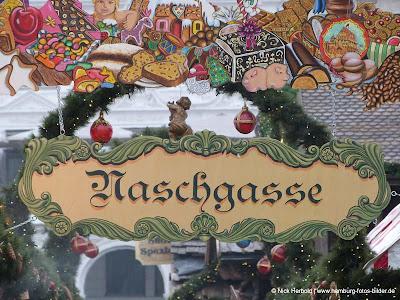 Naschgasse Weihnachtsmarkt Hamburg Rathaus Rathausmarkt