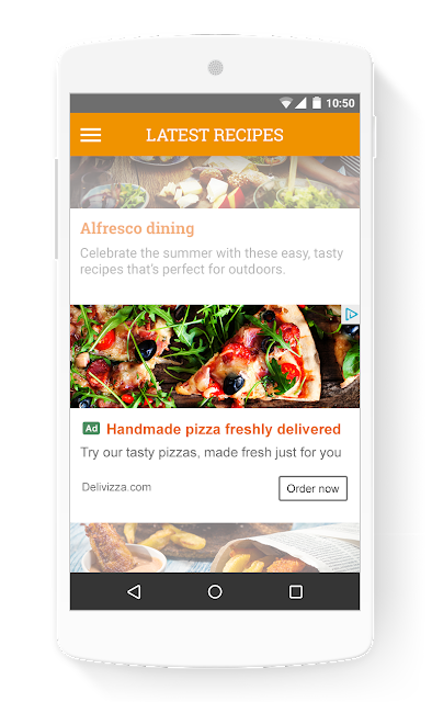 In-feed Ad Example on Mobile Phone