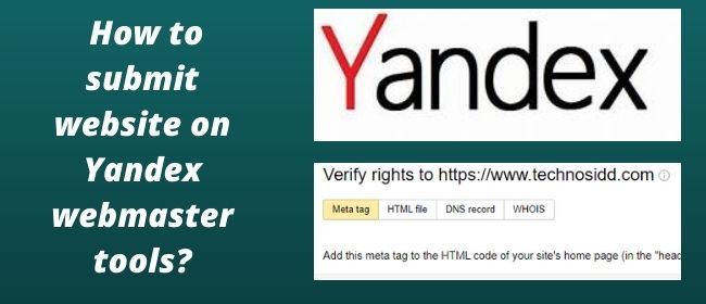 How to submit website to Yandex webmaster tools