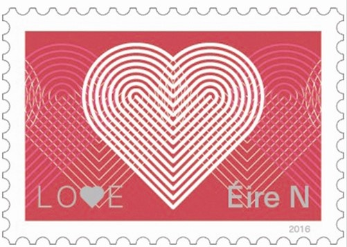 This Years Love Stamp From Ireland Issued On 11th February 2016 Is Based The Theme Chain Of Features An Interesting And Unusual