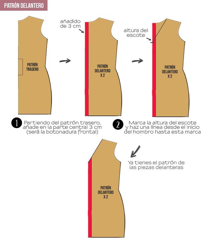 95c8e64f70 Para las mangas he utilizado el mismo patrón de la blusa básica sólo que no  las he hecho tan largas.