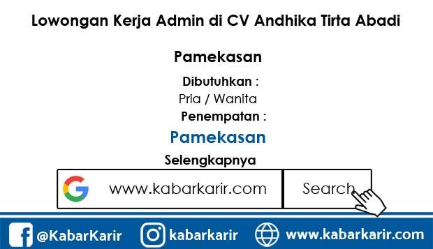 Loker CV Andhika Tirta Abadi