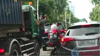 Pengemudi Pajero yang Aniaya Sopir Truk Kontainer di Jakut Ditangkap!