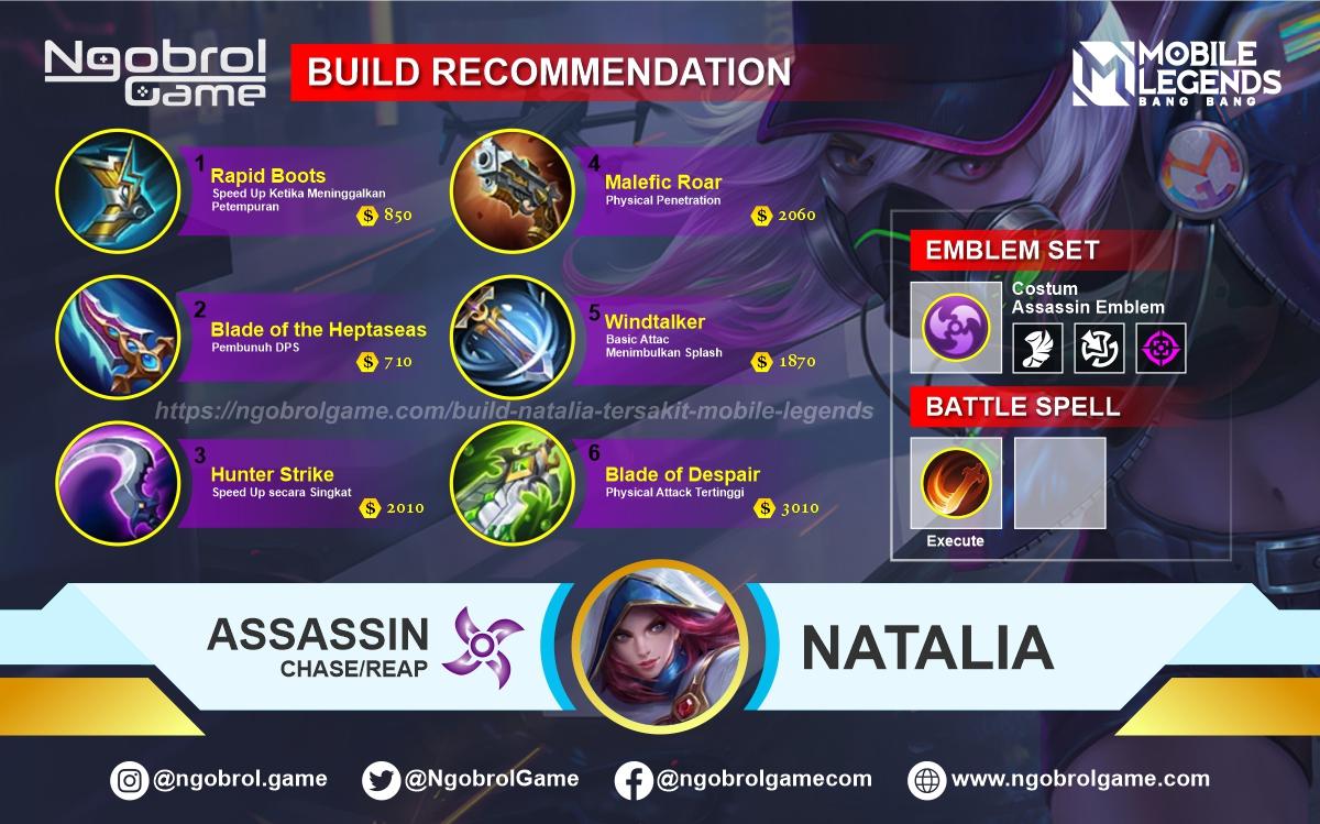 Build Natalia Tersakit 2021 Mobile Legends
