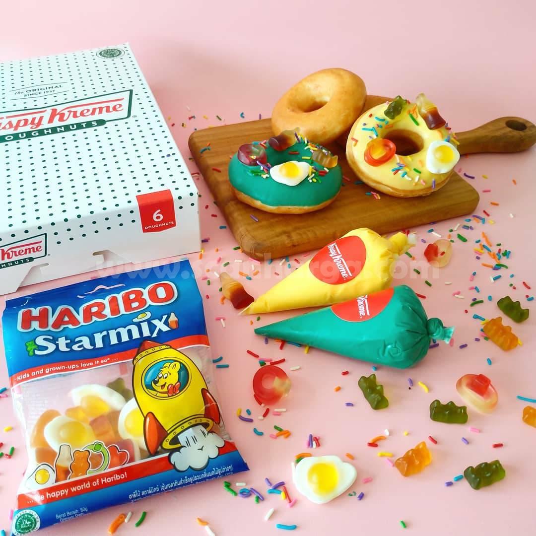 Krispy Kreme x Haribo Doughnut Dipping & Decorating Kit hanya 60K