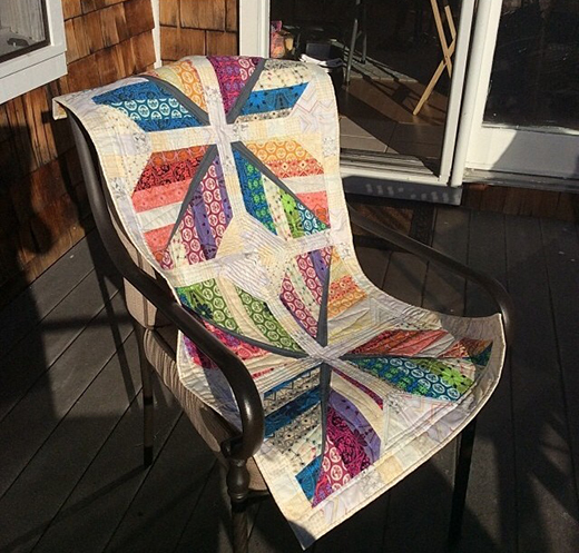 Leaf Feather Quilt designed By Julie of Intrepidthread