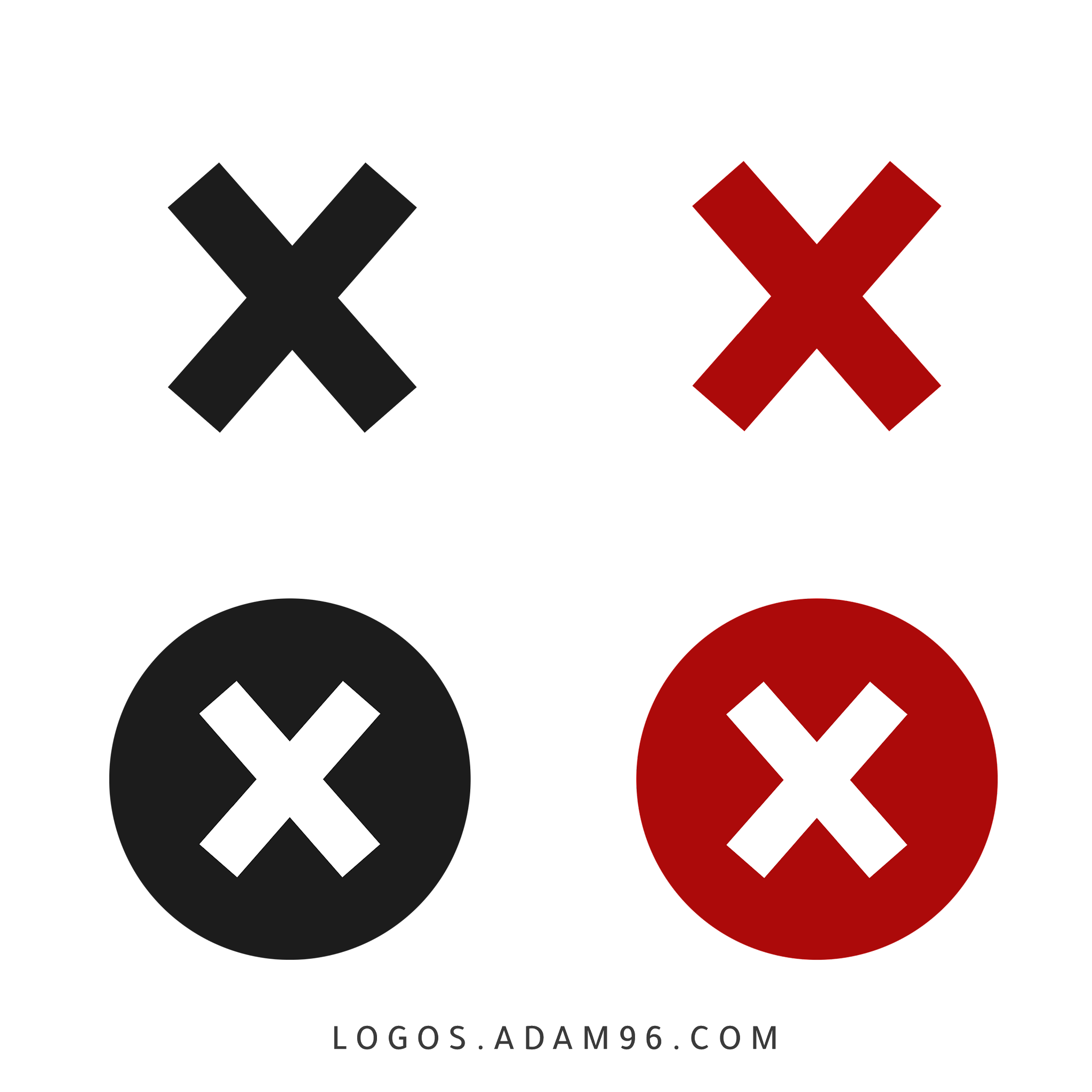 Negative Check Mark Icons Free Vector Download PNG