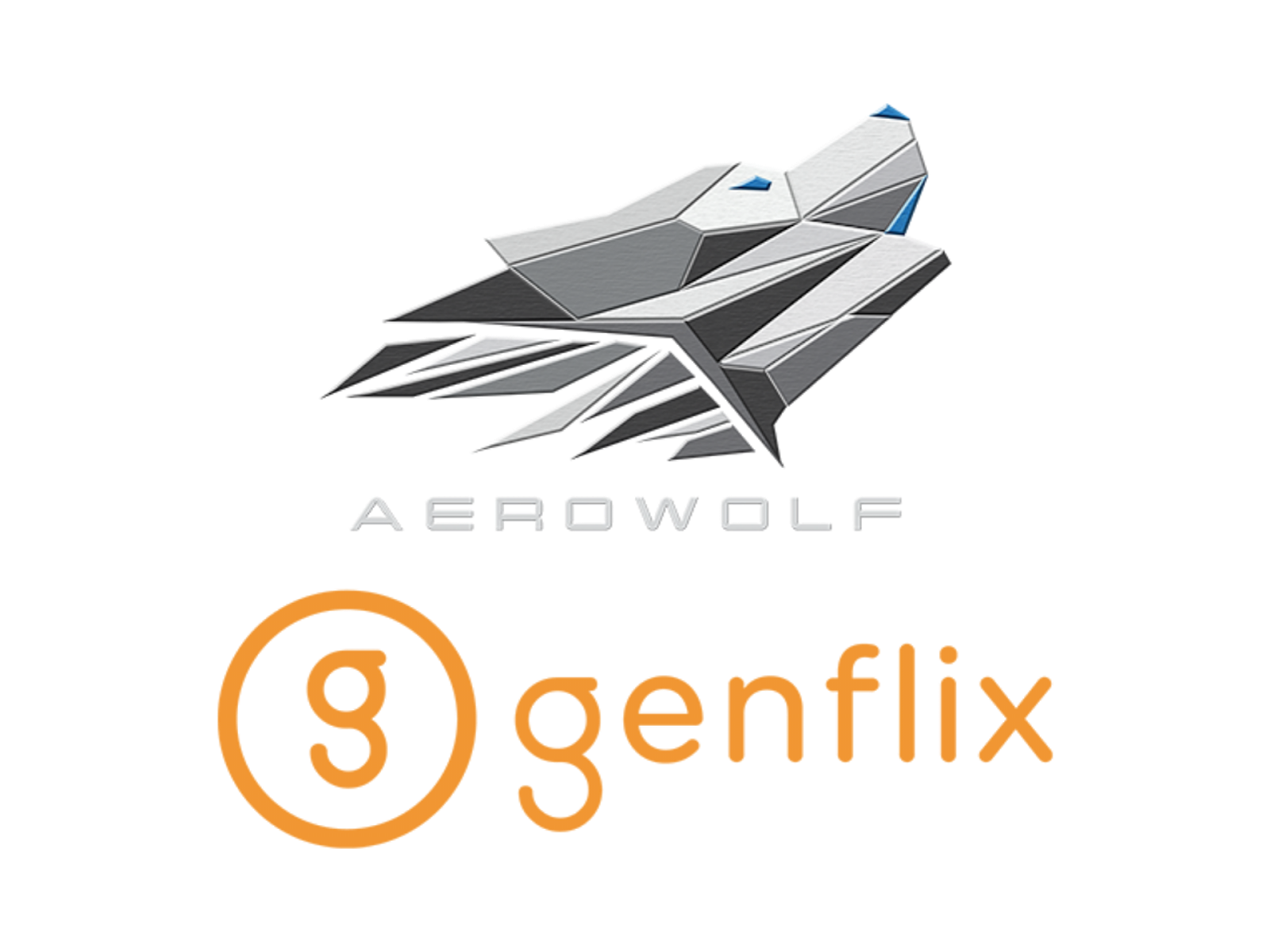 Logo Genflix Aerowolf Format PNG