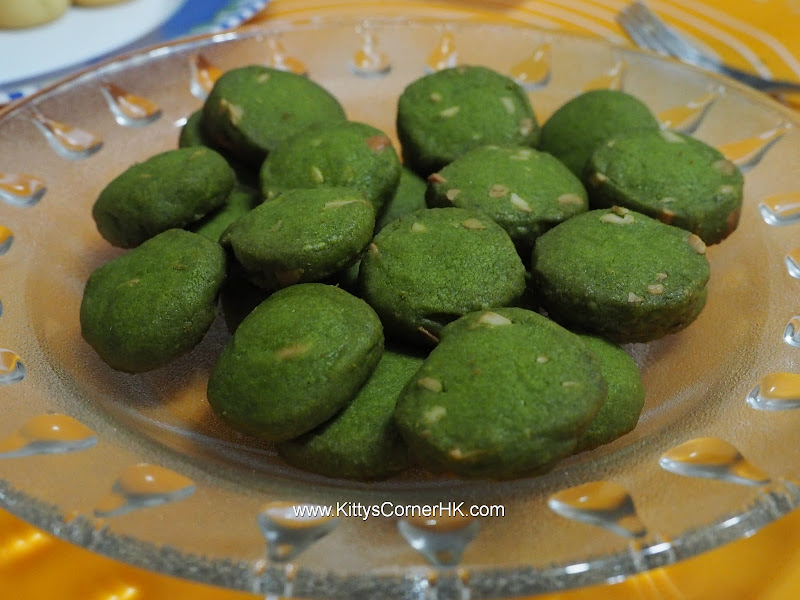 Cashew Nut Green Tea Cookie 腰果綠茶曲奇 自家烘焙 食譜 home baking recipes