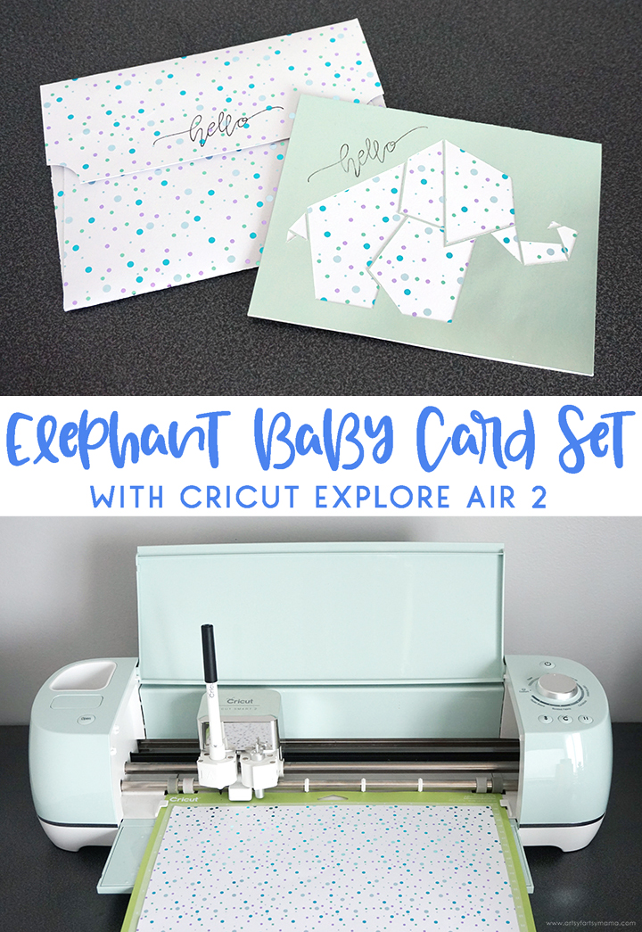 Elephant Baby Card and Envelope
