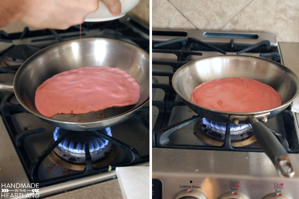 Valentine Strawberry Crepe Cake Recipe
