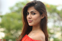 Rhea Chakraborty in Red Crop Top and Denim Shorts Spicy Pics ~  Exclusive 291.JPG
