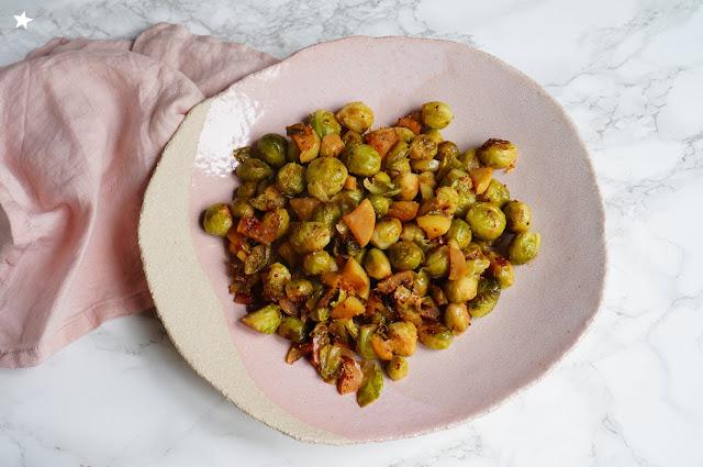 choux bruxelles pommes moutarde vegan