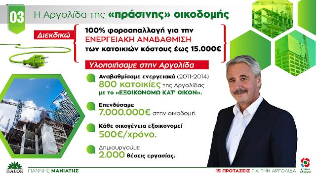 """Γιάννης Μανιάτης: """"Το έργο μας για την Αργολίδα στην Οικοδομή"""" (3/15)"""