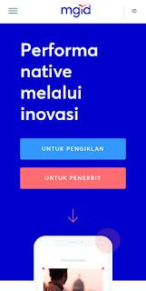 Riview iklan MGID Publishers untuk website dan blog