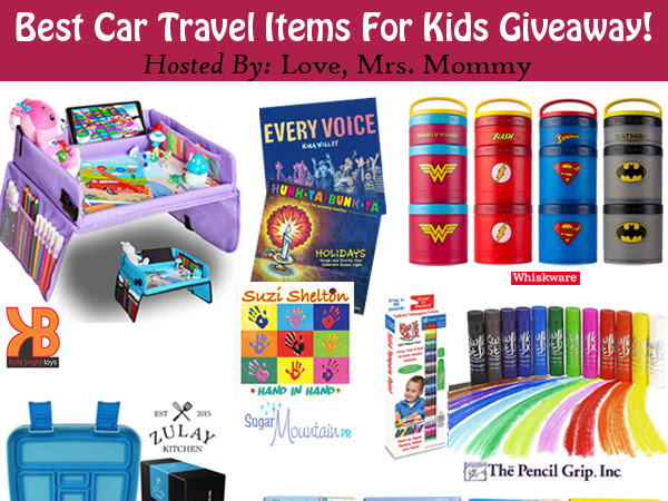 Best Car Travel Items For Kids #Giveaway! 12 Prizes!