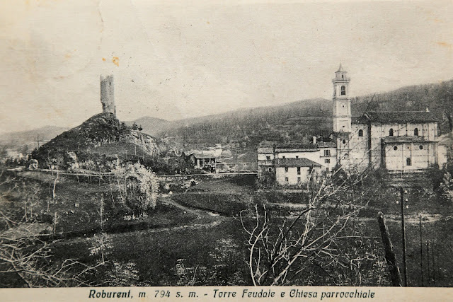 roburent inzio 1900 xx secolo 20 torre saracena parrocchia terremoto fulmine