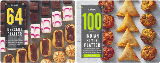Dessert and Indian snack platter.