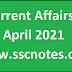 Current Affairs April 2021 - GK PDF Free Download
