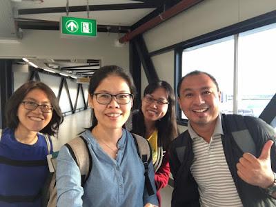 Bersama guru-guru dari Malaysia, Cikgu Lim, Cikgu Onn dan Cikgu Angie