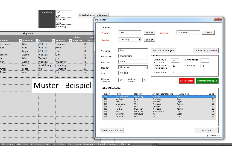 Blickwinkel178: Excel Urlaubsplaner/ Kalender