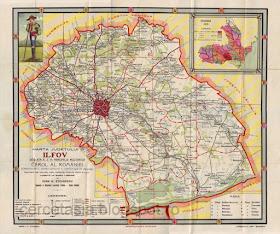Cercetăsia Romaniei Harta Judetului Ilfov 1916