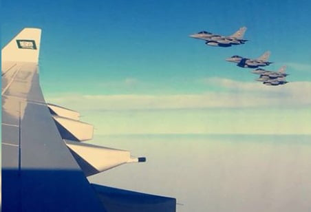 EGYPTIAN WARPLANES WELCOMED SAUDI CROWN PRINCE